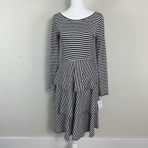 Lularoe Georgia black and white striped sz small